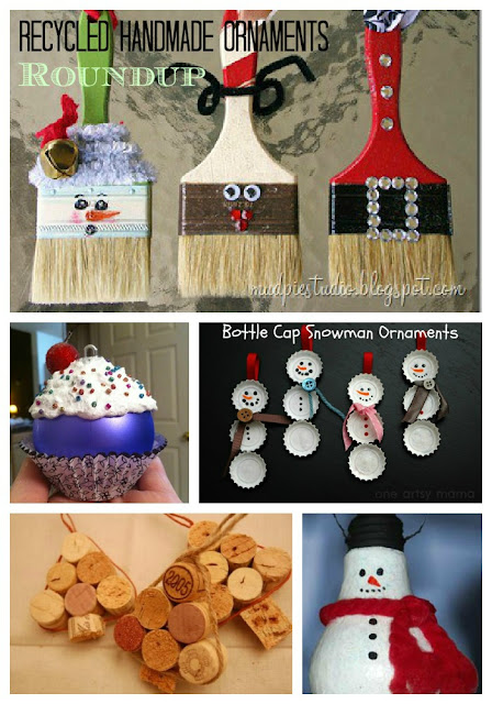 Christmas Decor Made From Recycled Materials : Roundup of handmade christmas ornaments from recycled