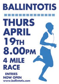 First evening 4m race in Cork...Thurs 19th Apr 2018