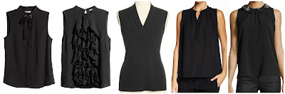 H&M Sleeveless Blouse $15.00 (regular $29.95)  H&M Ruffled Blouse $20.00 (regular $29.95) similar  Jones New York V Neck Blouse $23.40 (regular $39.00)  Collective Concepts Sleeveless Chiffon Blouse $27.97 (regular $78.00)  Neiman Marcus Beaded Collar Sleeveless Blouse $34.50 (regular $69.00)