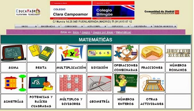 http://cp.claracampoamor.fuenlabrada.educa.madrid.org/juegosporareas-matematicas.htm