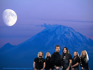 Iron Maiden Free Desktop Wallpapers Rock Group band photo in Blue Moon Mountain