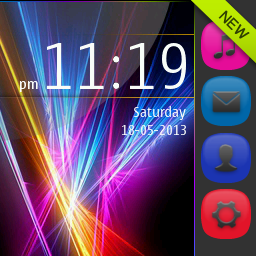 Rainbow abstract full touch themes