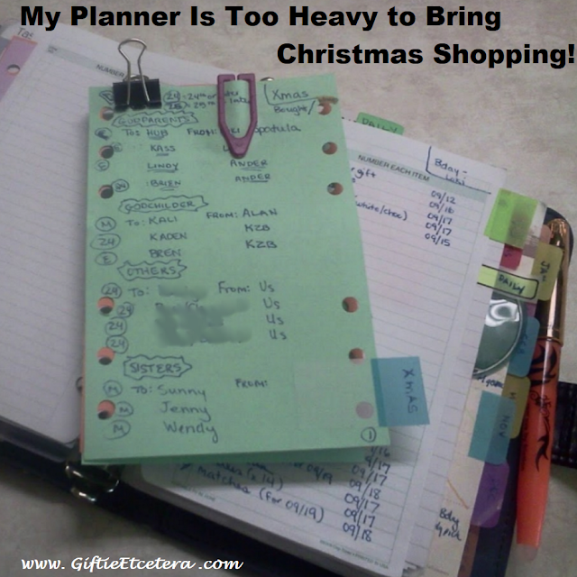 planner, planner pages, Christmas lists