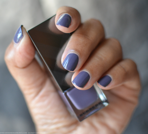 Burberry Nail Polish Pale Grape 410 - Swatches Photos NOTD Review
