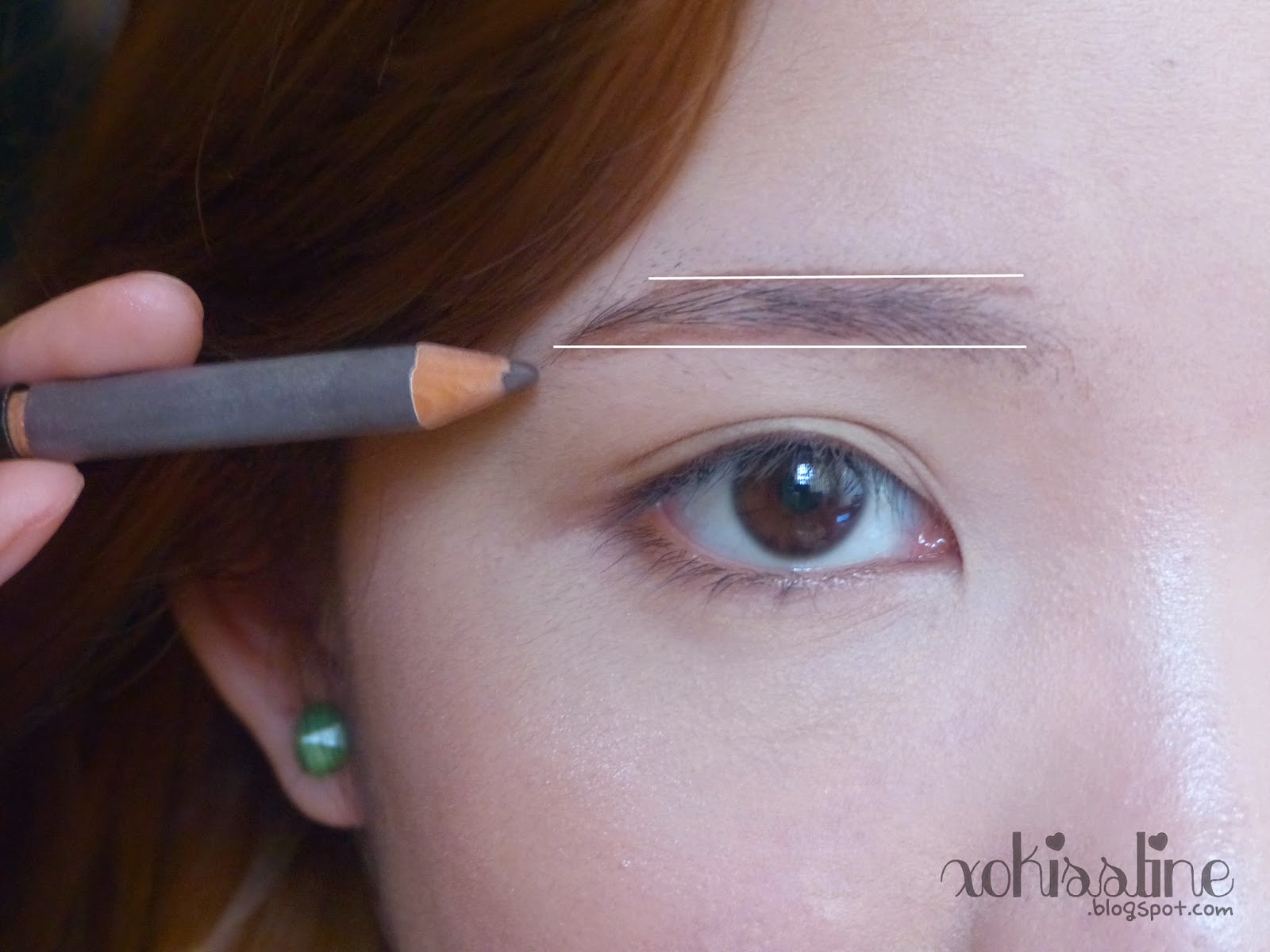 Korean Straight Eyebrows Tutorial Iu Inspired Xokisstine