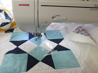 free motion quilting with rulers on a domestic or home machine diamonds in stars