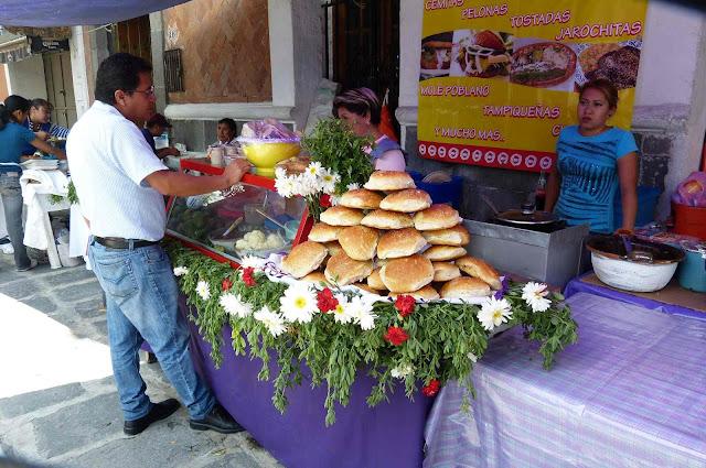 Puesto de comida en Puebla - México