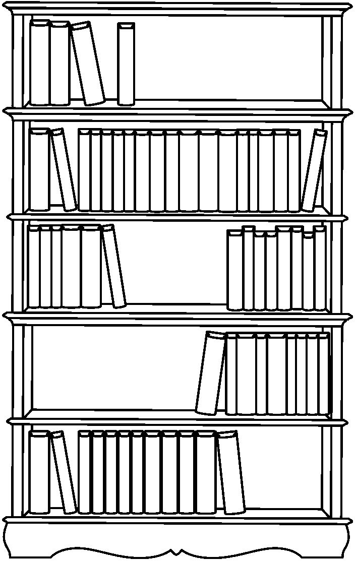 Bookshelf Coloring Book Coloring Pages