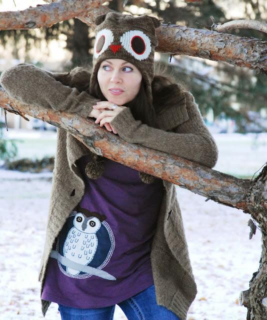oqlsf4 - Woot! Snowy Owl Organic Tunic