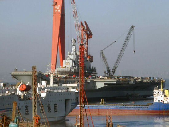 Chinese aircraft carrier lastest pictures