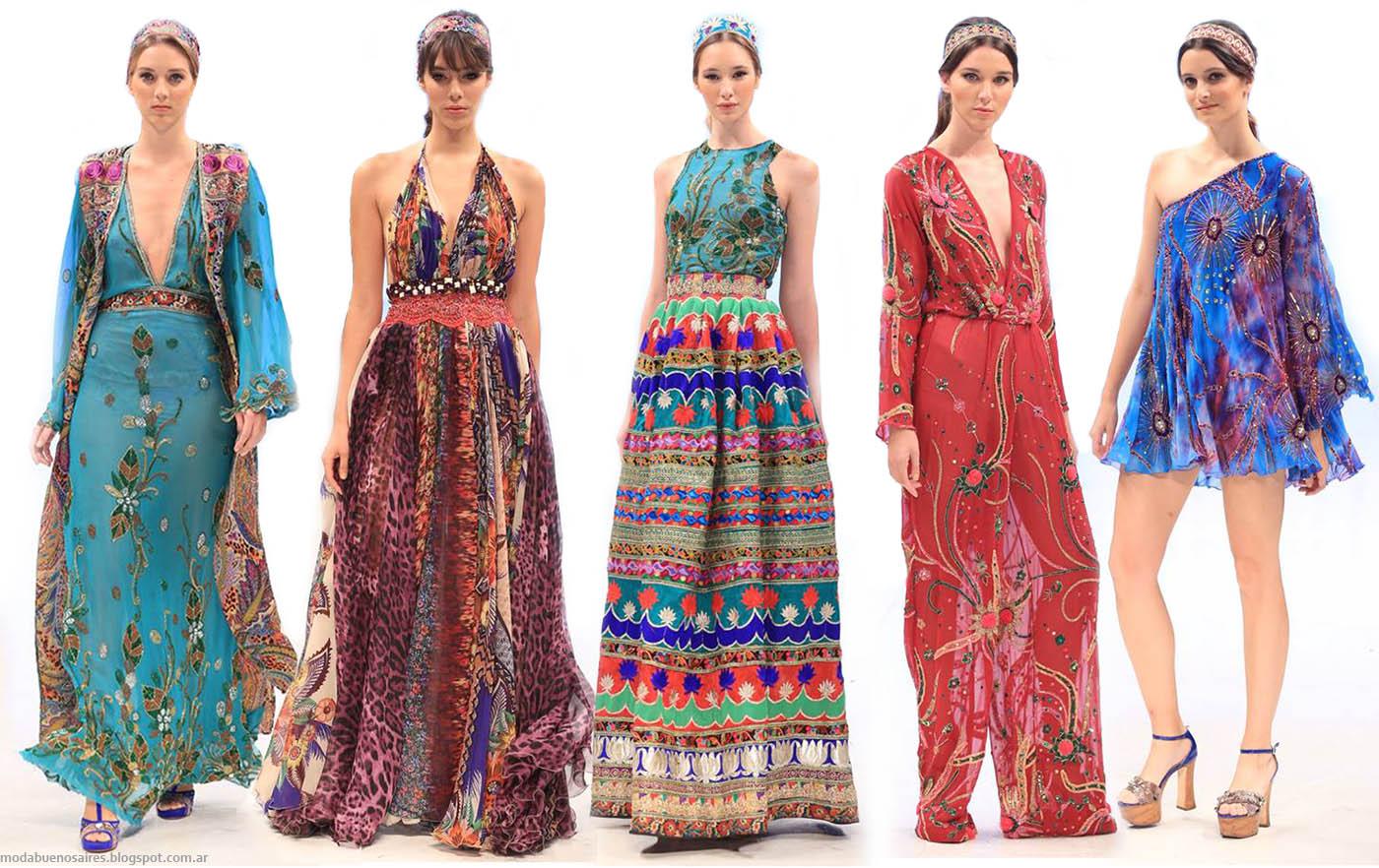 Moda otono invierno 2015 argentina vestidos