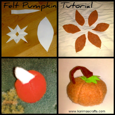 Felt Pumpkin Tutorial Muslim blog sewing upcycling