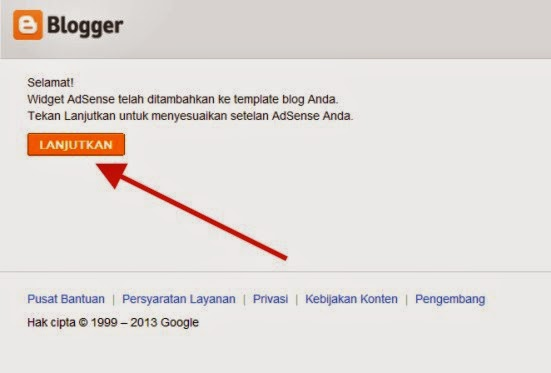 step 6 daftar adsense via blogger