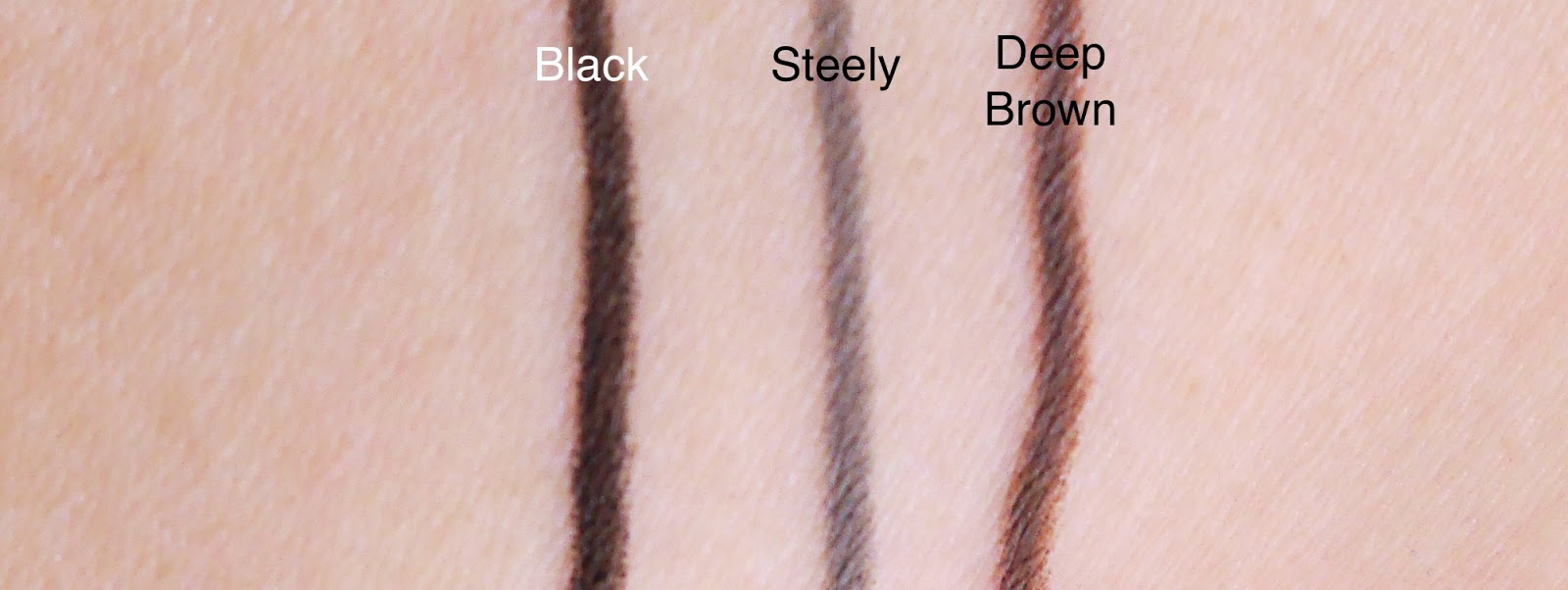 mary kay eyeliner steely black deep brown review swatch