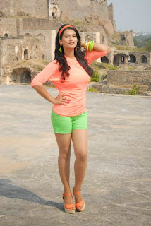 Sharmila Mandre Latest Picture Gallery in Green Shorts