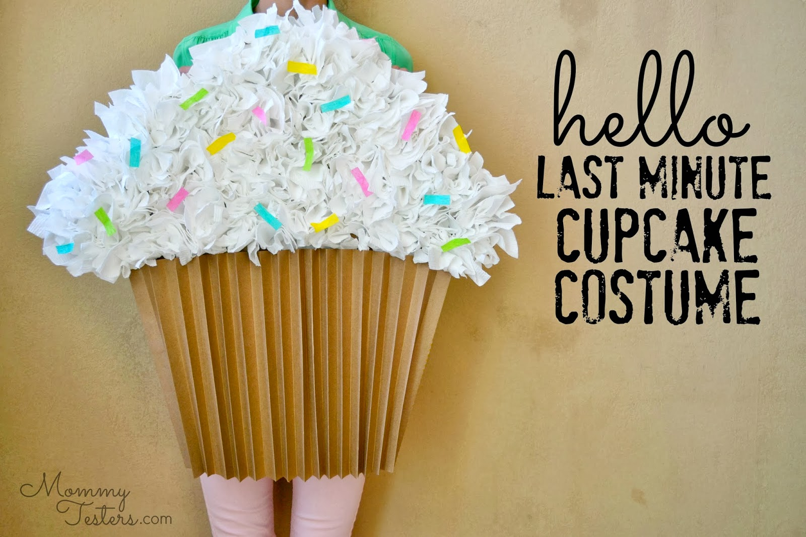 mommy testers easy diy cupcake costume last minute halloween mommy testers easy diy cupcake costume make a costume toilet paper toilet paper