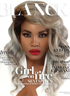 Seyi Shay looks beautiful on the cover of Blanck magazine's September 2015 issue