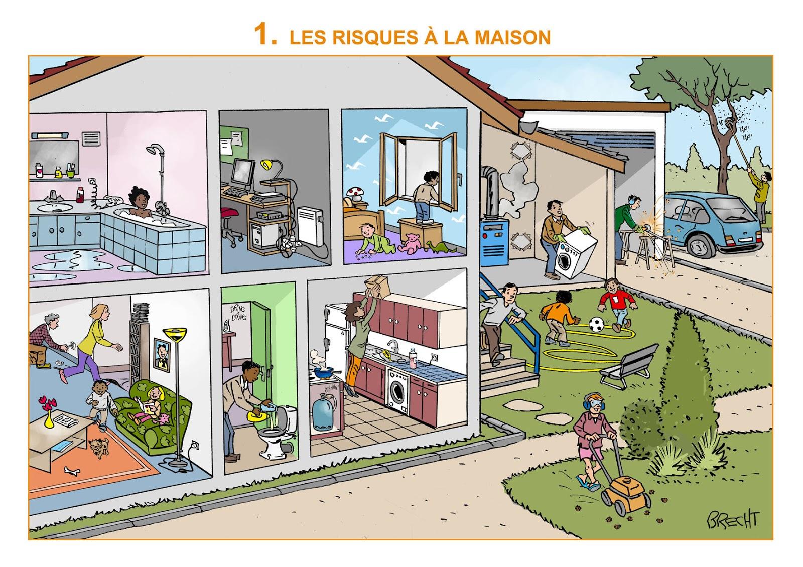 Daniel brecht dessinateur la petite maison de tous les for Accident domestique cuisine
