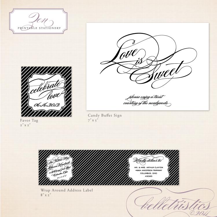 script printable diy wedding wedding reception stationery Water label