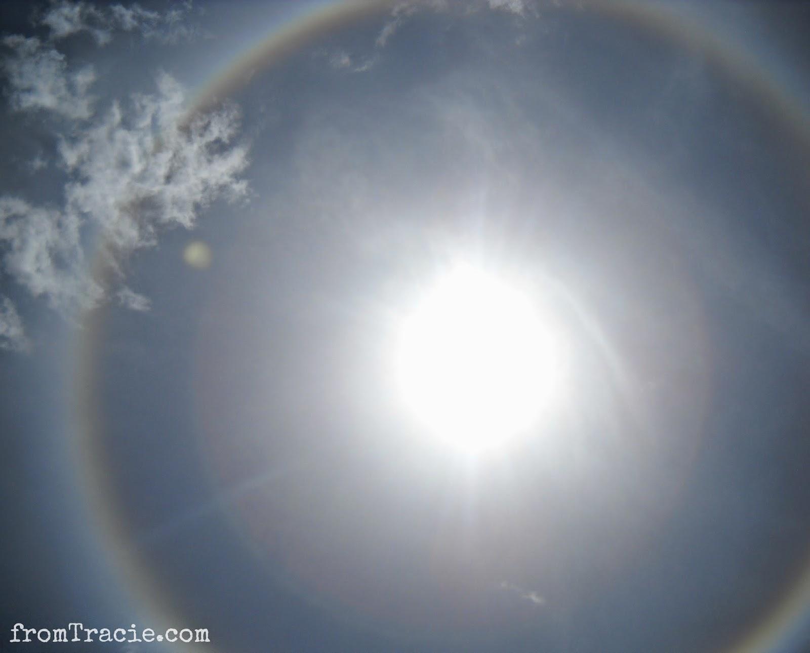 Sun With Rainbow Circle