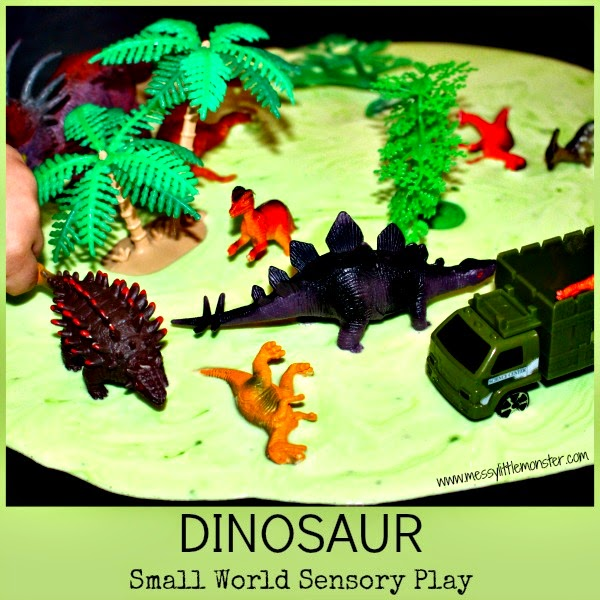 http://www.messylittlemonster.com/2014/12/dinosaur-small-world-sensory-play-with.html