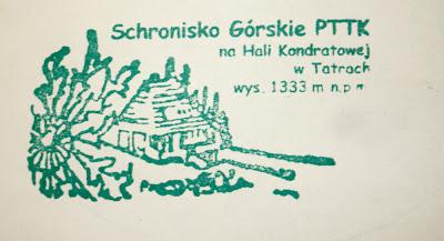 Schronisko PTTK na Hali Kondratowej - pieczątka