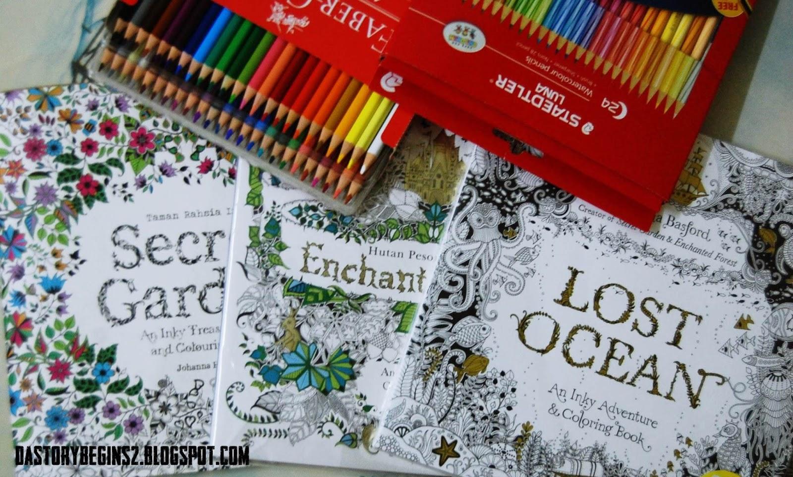 BUKU Johanna Basford Colouring Book Series