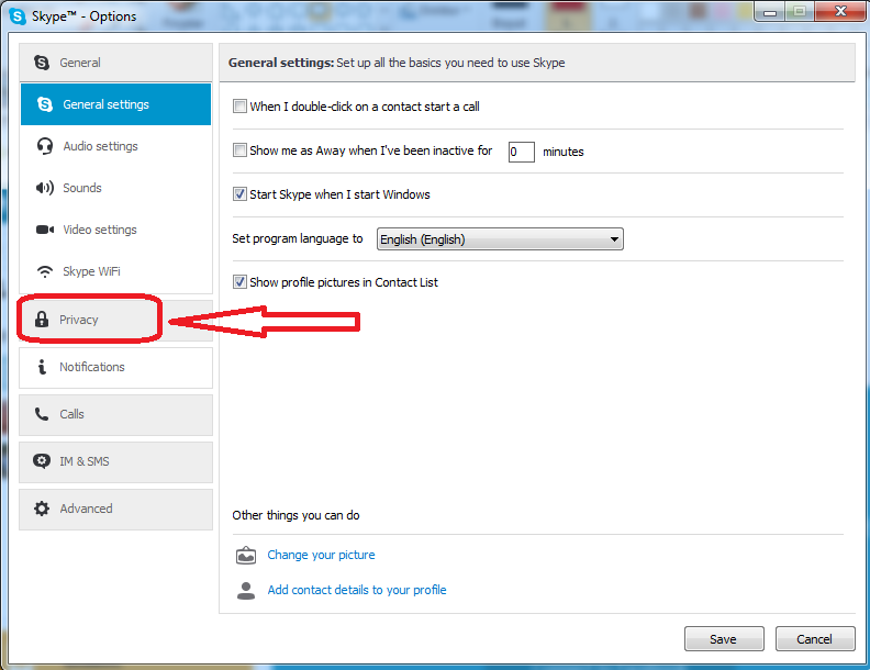 unblocking skype contacts