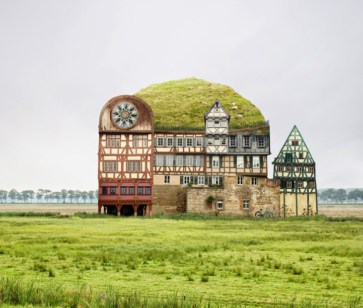 surreal houses collages matthias jung