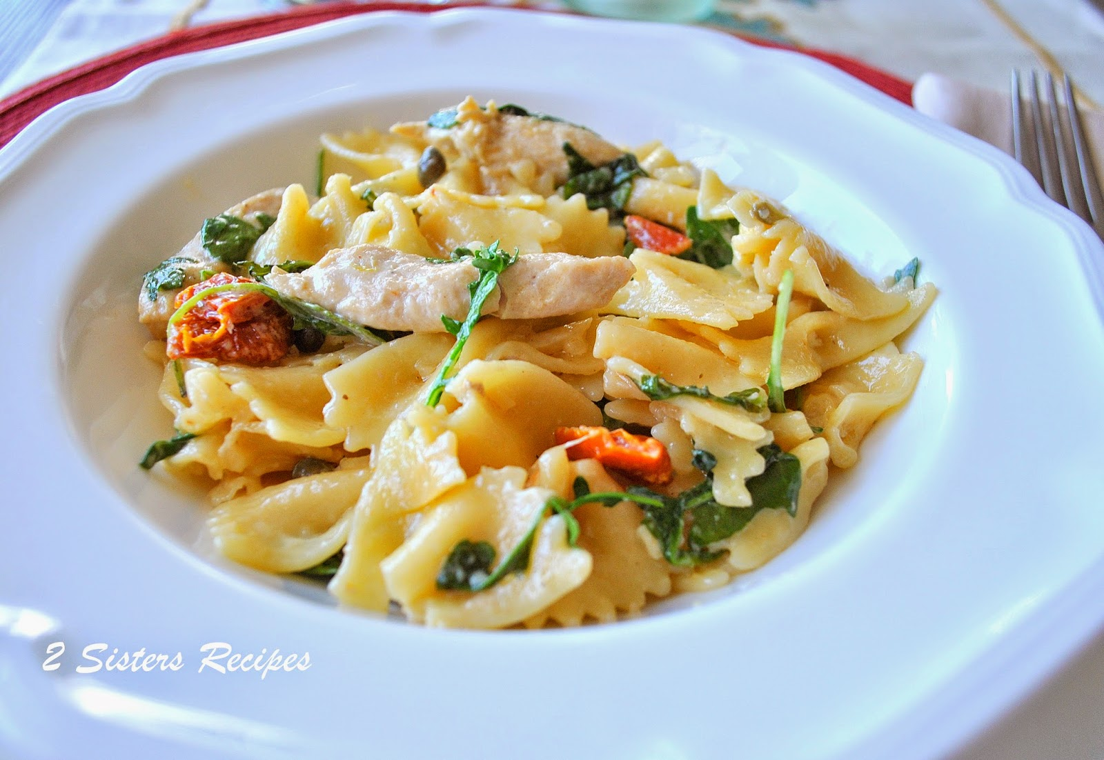 Farfalle With Tuna, Spinach And Sun-Dried Tomatoes Recipe ...