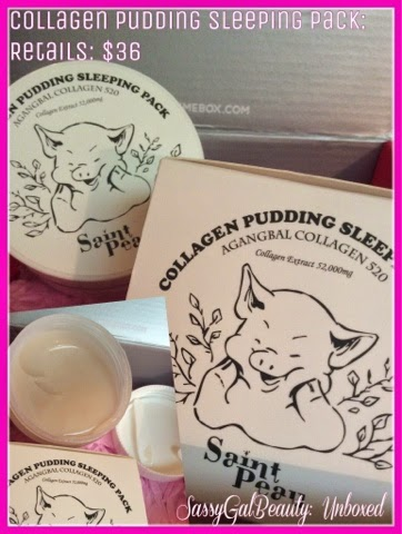Saint Peau:  Collagen Pudding Sleeping Pack