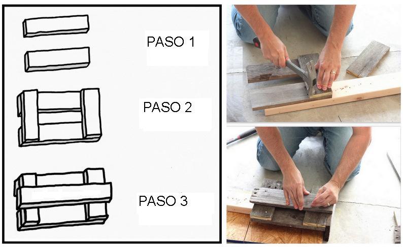 Porta macetas con reciclaje for Reciclar palets de madera paso a paso