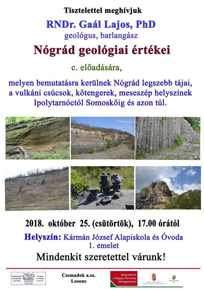Geológiai előadás