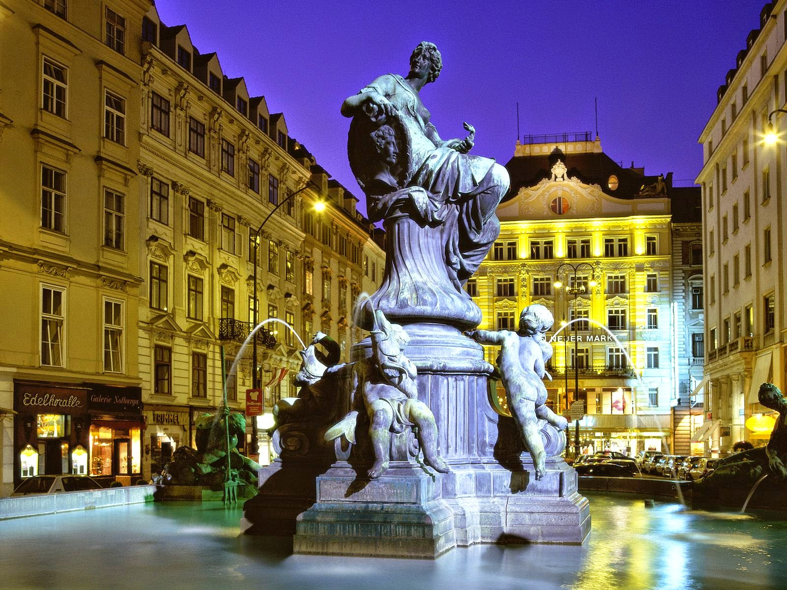 Vienna Austria  city photos gallery : Vienna Austria Donnerbrunnen Fountain
