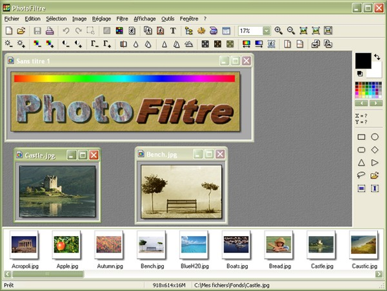 برنامج 2014 PhotoFiltre لتصميم الصور
