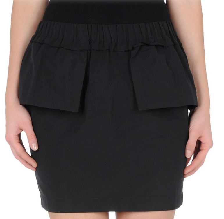 Black Peplum Mini Skirt