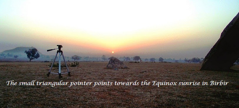 The Equinox sunrise in Birbir. Jharkhand
