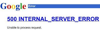 Google 500 internal server error message