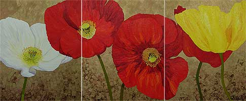 The beautiful poppy I used as my title image was painted by the talented Lisa Feather
