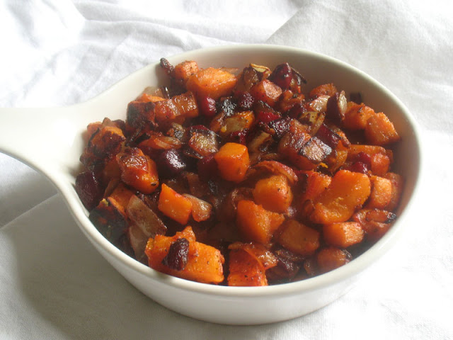 Hash Browned Sweet Potato and Beets