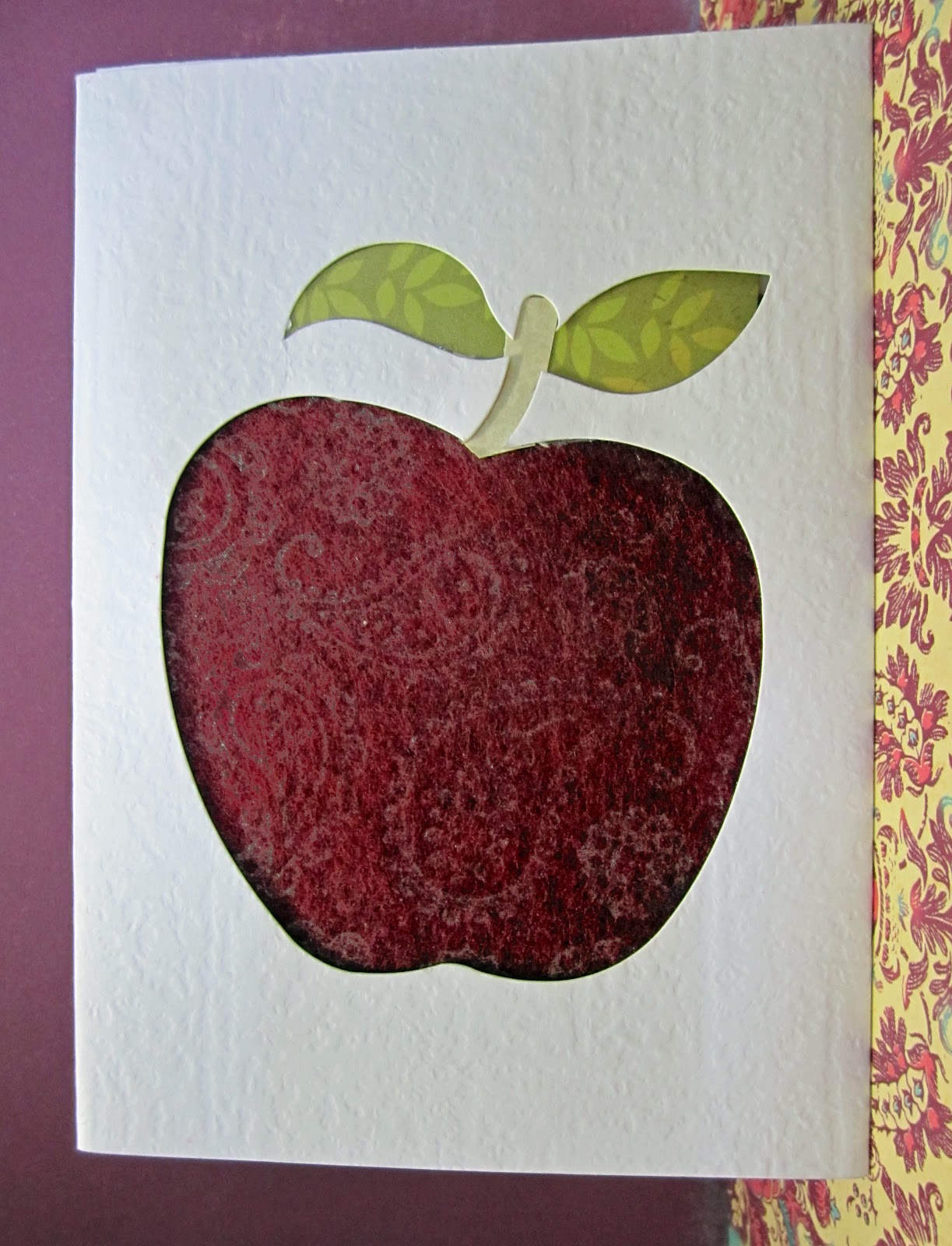 Hand Made Cards Ideas And Inspiration Printed Felt Apple Card