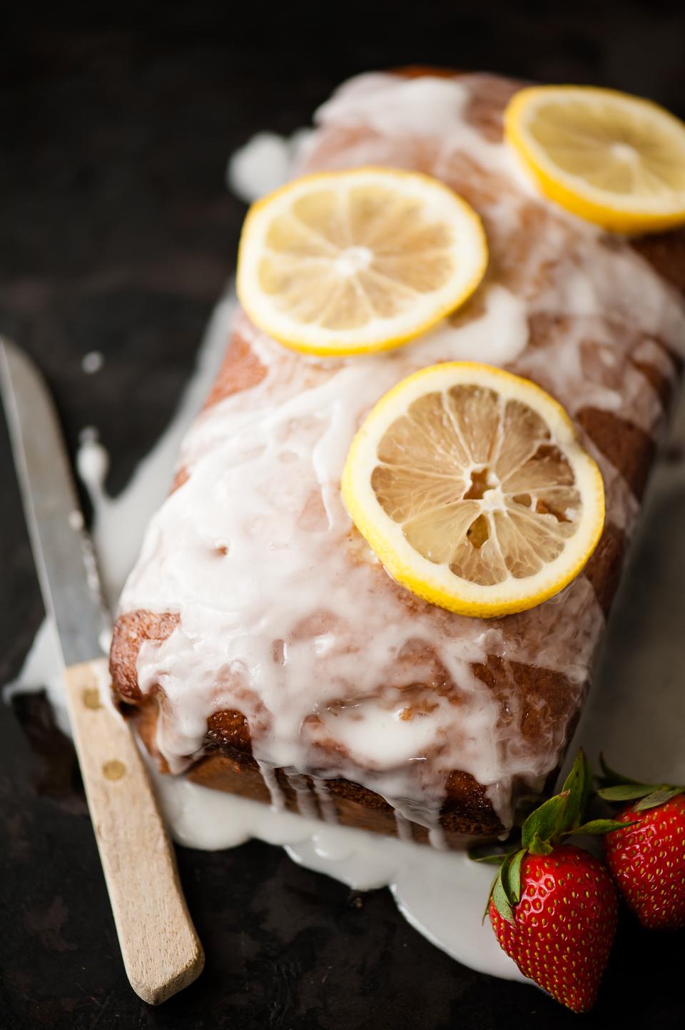 Meyer Lemon Pound Cake with Syrup and Glaze / the kosher spoon