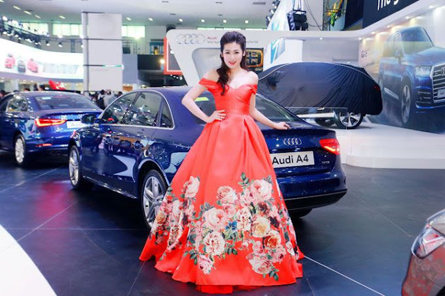 Xe sang Audi đẹp rạng ngời bên Á hậu Dương Tú Anh