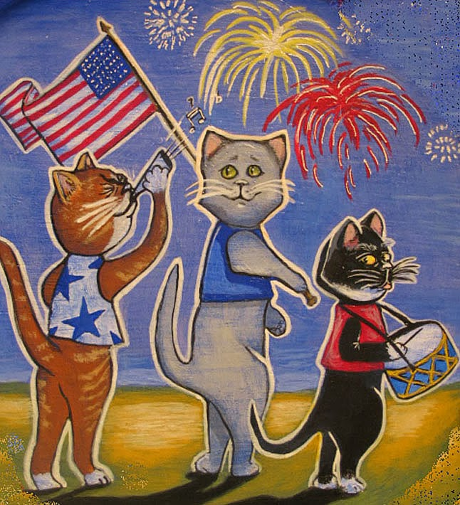 Fourth of July Cats