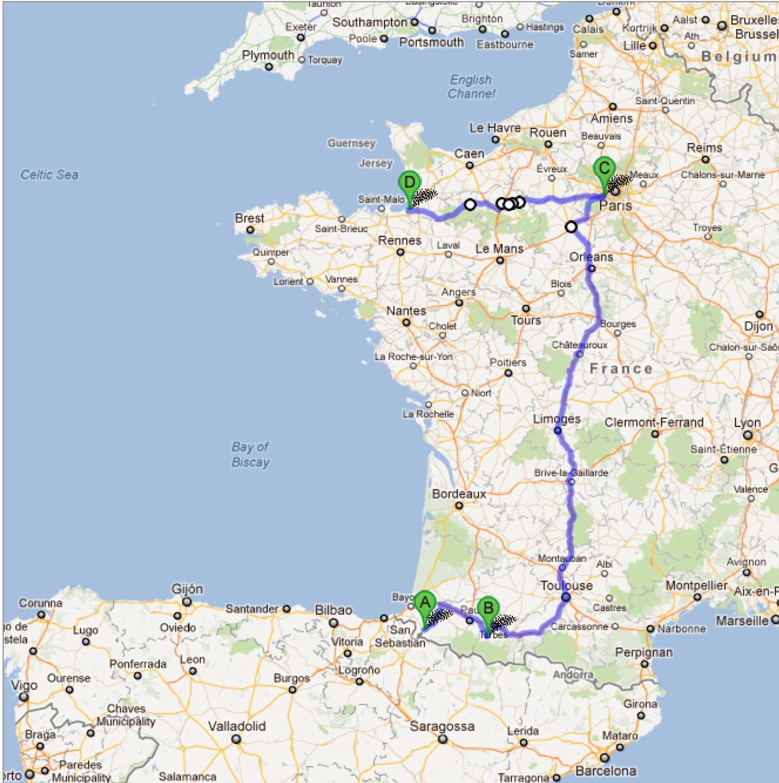 Samarkand Bound Central France Lourdes Chartres Versailles