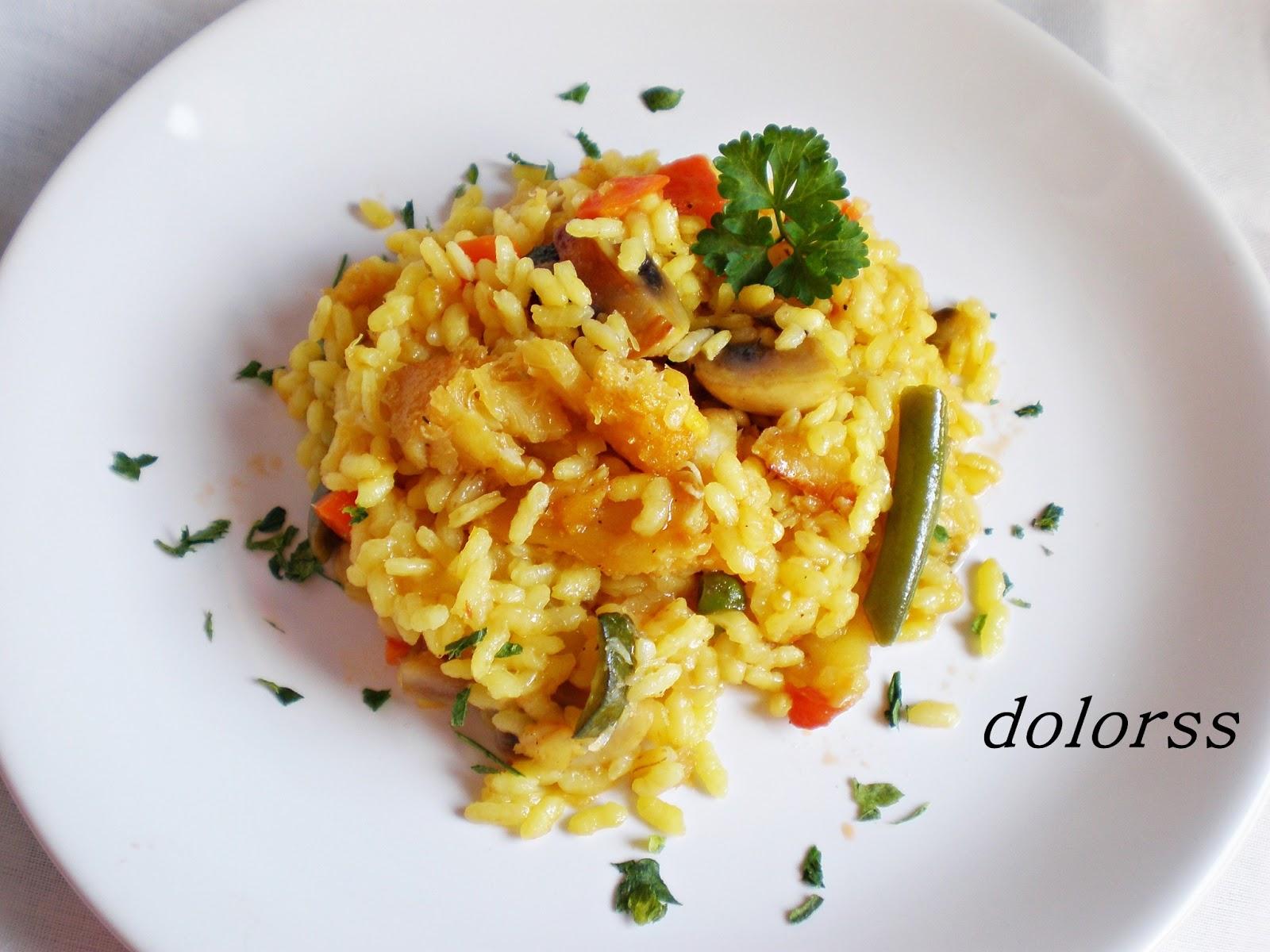 Blog de cuina de la dolorss arroz con bacalao y verduras - Arroz con bacalao desmigado ...