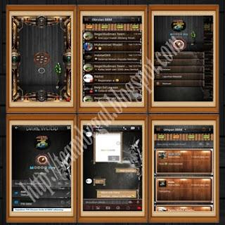 BBM Mod Dark Wood Themes 2.9.0.44 + Fitur Keren