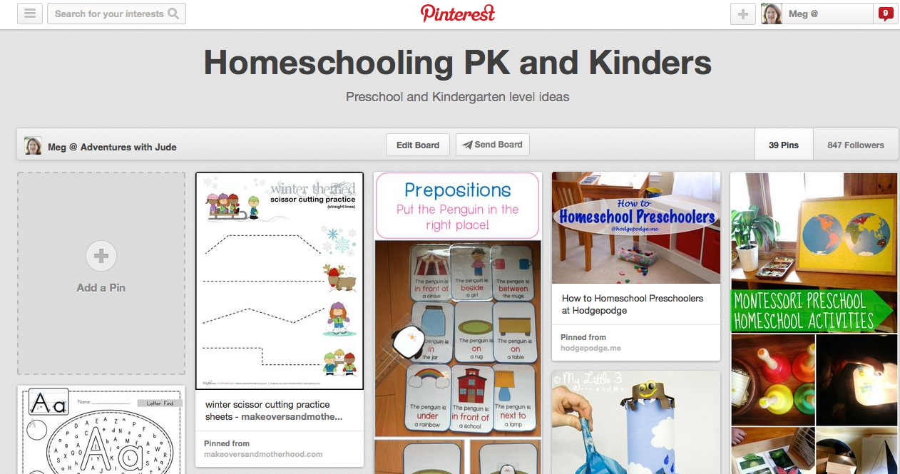 http://www.pinterest.com/mama2lmcjd/homeschooling-pk-and-kinders/