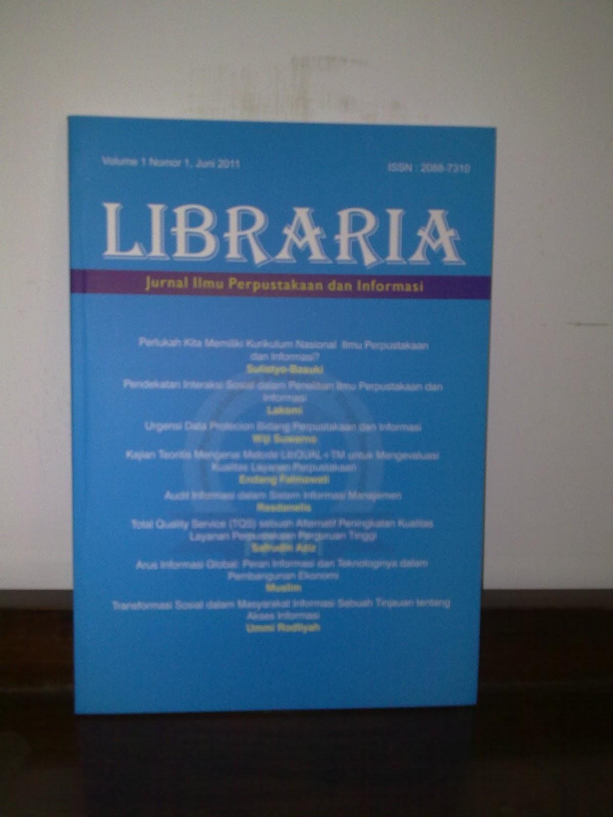 LIBRARIA Jurnal Ilmu Perpustakaan dan Informasi
