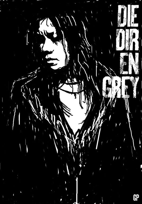 dir en grey die poster painting uroboros album cover rinkaku